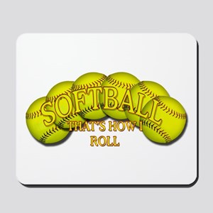 Softballs roll Mousepad