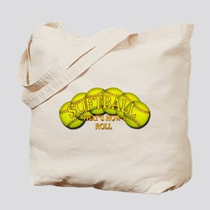 Softballs roll Tote Bag
