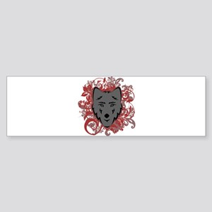 Jacob Wolf Flourish Bumper Sticker