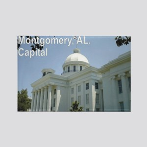 Montgomery, Alabama Capital building Rectangle Mag