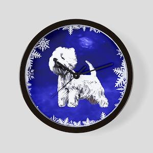 west highland terrier, westie Wall Clock