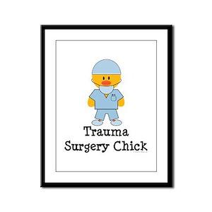 Trauma Surgery Chick Framed Panel Print