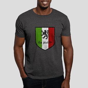 La Sicilia Vintage Flag Dark T-Shirt