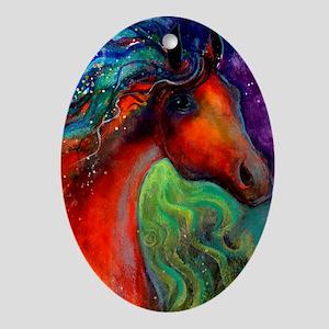 Arabian horse 7  Oval Ornament