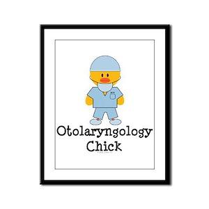 Otolaryngology Chick Framed Panel Print