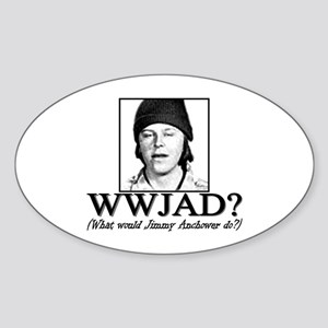 WWJAD? Oval Sticker
