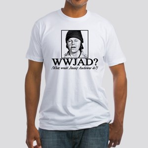 WWJAD? Fitted T-Shirt
