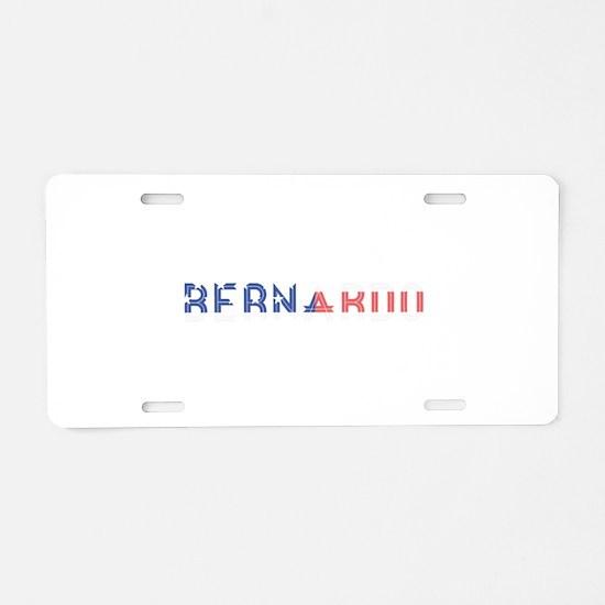 Bernardo Aluminum License Plate