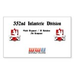 352nd Infanterie Division Rectangle Sticker