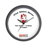 352nd Infanterie Division Wall Clock