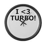 I <3 TURBO - Large Wall Clock by BoostGear.com