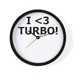 I <3 TURBO - Wall Clock by BoostGear.com