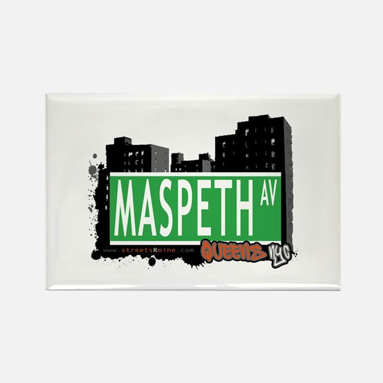 MASPETH AVENUE, QUEENS, NYC Rectangle Magnet