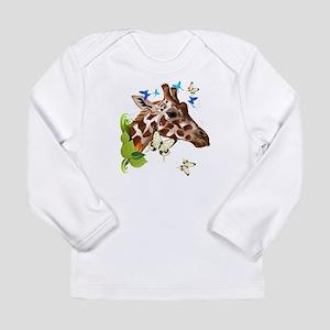GIRAFFE and BUTTERFLIES Long Sleeve T-Shirt