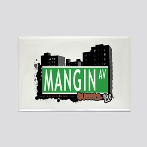 MANGIN AVENUE, QUEENS, NYC Rectangle Magnet
