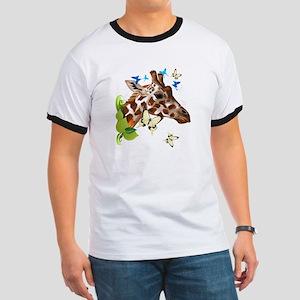 GIRAFFE and BUTTERFLIES T-Shirt