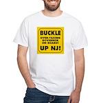 BUCKLE UP NJ! White T-Shirt