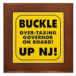 BUCKLE UP NJ! Framed Tile