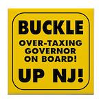 BUCKLE UP NJ! Tile Coaster