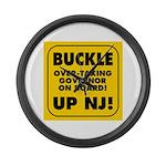 BUCKLE UP NJ! Large Wall Clock