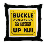 BUCKLE UP NJ! Throw Pillow