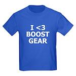 I <3 BOOST GEAR - Kids Dark T-Shirt by BoostGea