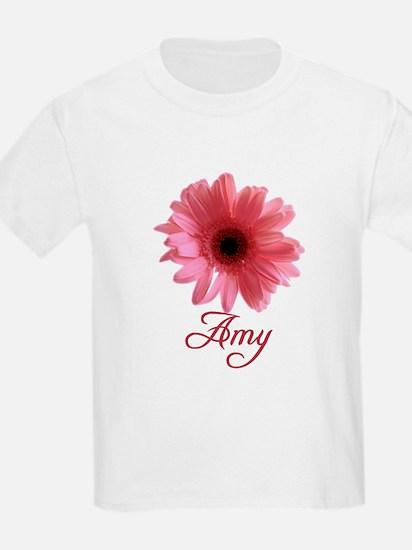 Amy Pink Daisy Kids T-Shirt