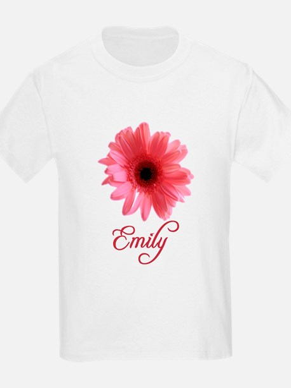 Emily Pink Daisy Kids T-Shirt