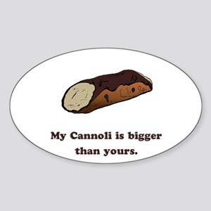Funny Cannoli Oval Sticker