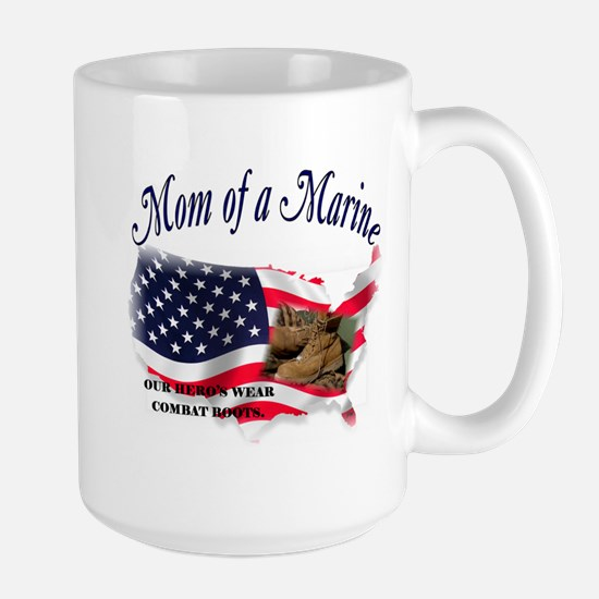 Mom of a Marine Large Mug
