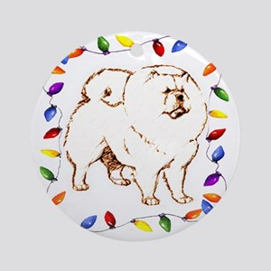 chow chow dog Ornament (Round)