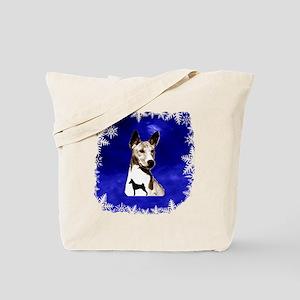 basenji holiday design Tote Bag