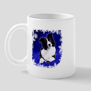 border collie holiday designs Mug