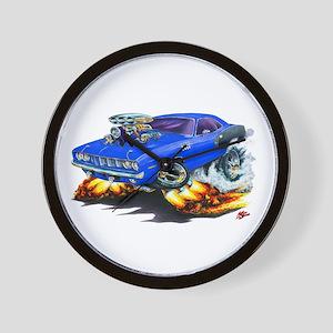 1971-72 Hemi Cuda Blue Car Wall Clock