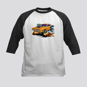 1971-72 Hemi Cuda Orange Car Kids Baseball Jersey