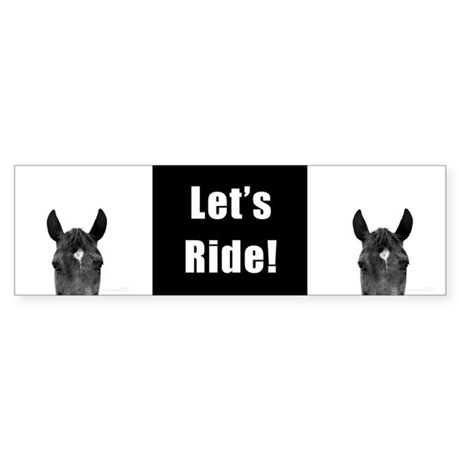 Let's Ride print by Ed Wood Bumper Sticker