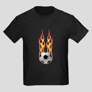 Soccer fire Kids Dark T-Shirt