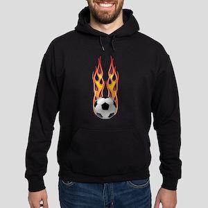 Soccer fire Hoodie (dark)