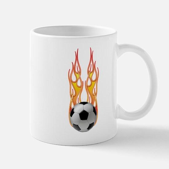 Soccer fire Mug