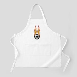 Soccer fire BBQ Apron