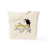 Nevermore Vintage Raven Reusable Tote Bag