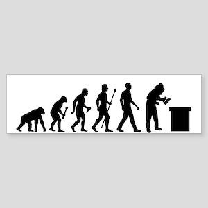 Beekeeping Evolution Bumper Sticker