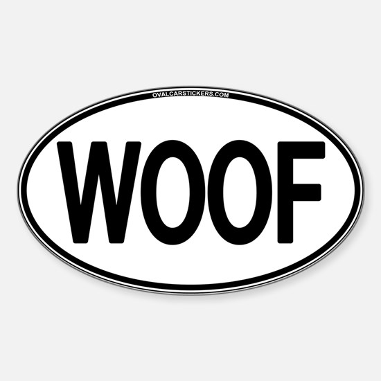 WOOF Oval Oval Decal