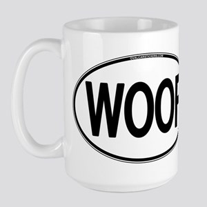 WOOF Oval Large Mug