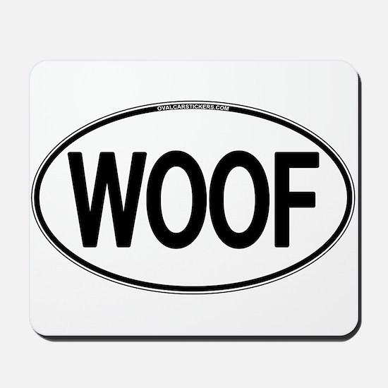 WOOF Oval Mousepad
