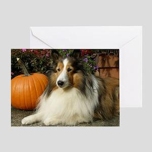 Pumpkin Girl Greeting Card