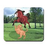 Mustang Horse & cougar Mousepad