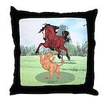 Mustang Horse & cougar Throw Pillow