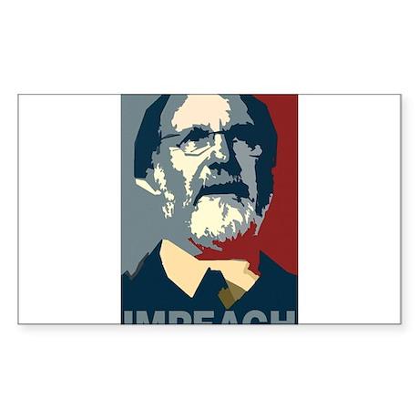 Impeach Corzine Rectangle Sticker