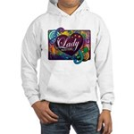 Color Heart Cube Hooded Sweatshirt